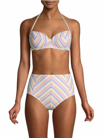Beach Stripe Underwire Bikini Top