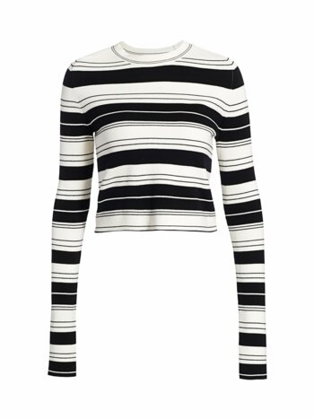 Pinstripe Cropped Sweater