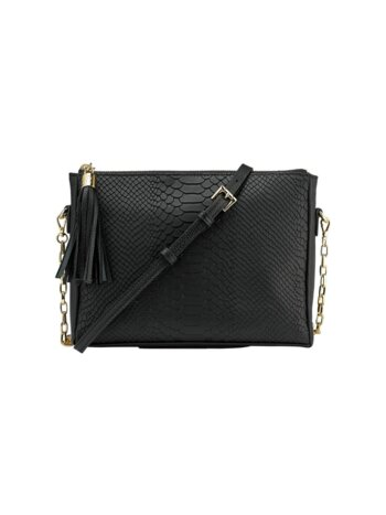 Hailey Chain Python-Embossed Leather Crossbody Bag