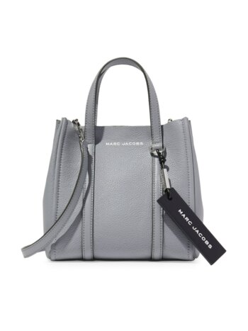 The Tag Pebbled Leather Tote