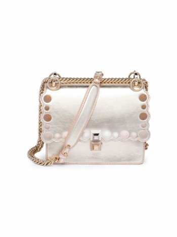 Mini Kan I Metallic Leather Cross Body Bag