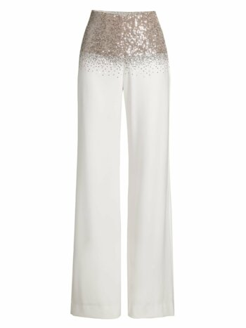 Pia Sequin Wide-Leg Pants