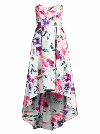 Paulina Strapless Floral Dress