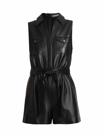 Dallas Leather Romper