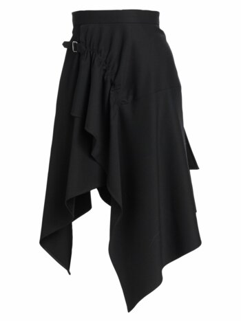 Tailored Wool Handkerchief Skirt