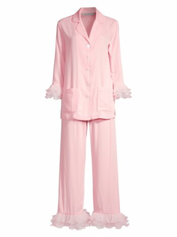 Two-Piece Tulle Ruffled Pajama Set
