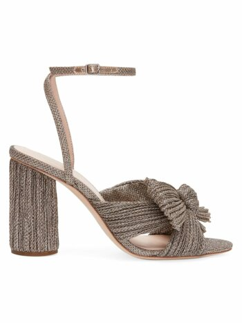 Camellia Knotted Glitter Sandals