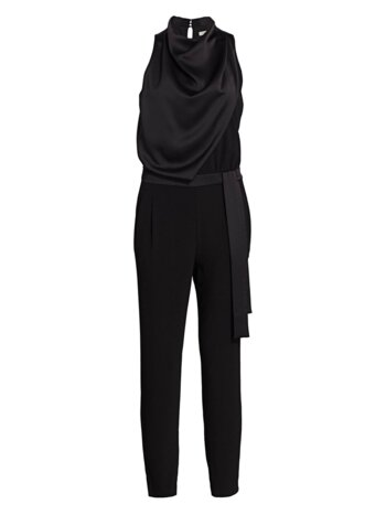 Draped Highneck Jumpsuit