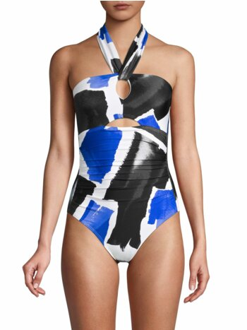 Abstract Cutout One-Piece Swimsuit