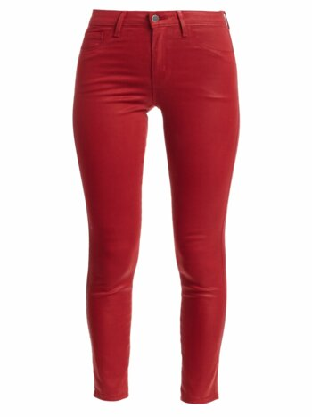 Margot High-Rise Coated Ankle Skinny Jeans