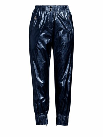 Olympia Metallic Cropped Track Pants