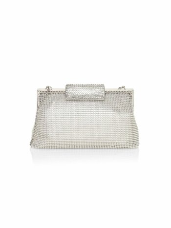 Crystal Clasp Mesh Pouch