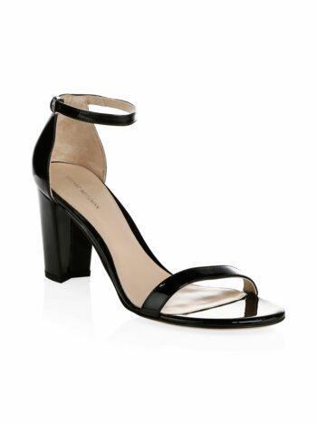 Nearlynude Patent Leather Block Heel Sandals