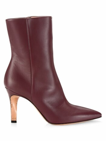Leather Point-Toe Booties