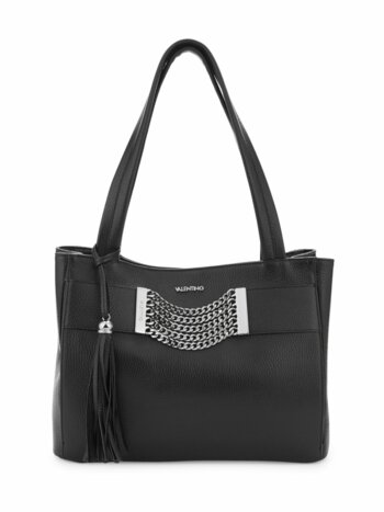 Luisa Chain & Tassel Pebbled Leather Tote