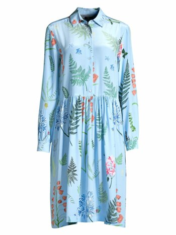 Acerbi Floral Silk Shirtdress