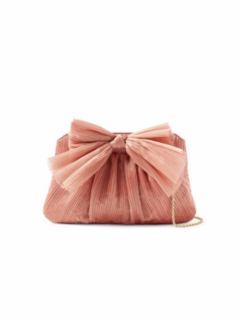 Rayne Knotted Satin Clutch