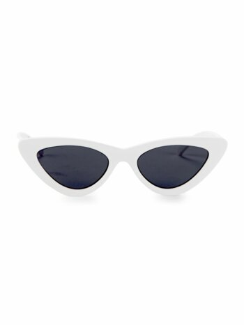 Adam Selman x Le Spec Luxe The Last Lolita White Sunglasses