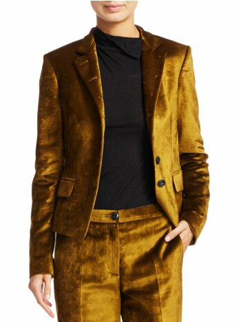 Rei Velvet Notch Collar Tailored Blazer