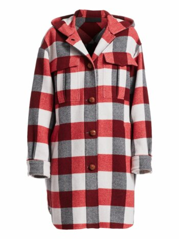 Beck Buffalo Check Hooded Coat