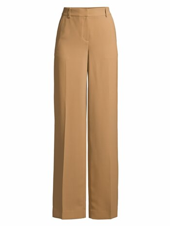 Double Crepe Wide-Leg Pants