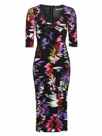 Delora Abstract Print Bodycon Dress