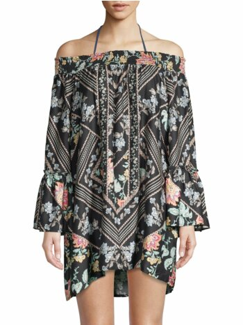 Floral Smocked Cover-Up Tunic