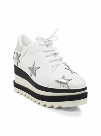 Star Embroidered Sneaker Wedges