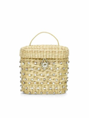 The Ashleigh Embellished Straw Canteen Bag