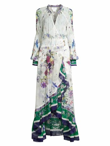 Mythical Creatures Silk Wrap Dress