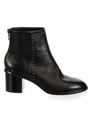 Willow Stud Leather Booties