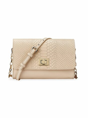 Catherine Embossed Python Crossbody Bag
