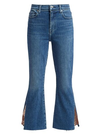 Luxe High-Rise Slim-Fit Kick Flare Jeans