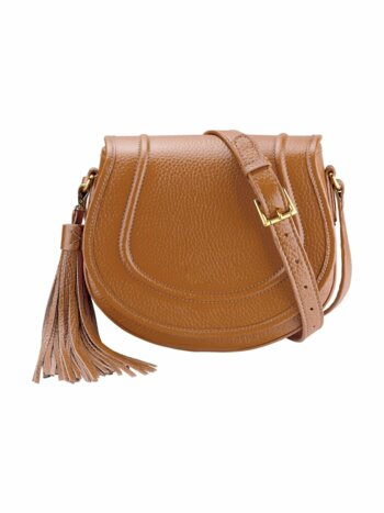 Jenni Pebbled Leather Saddle Bag