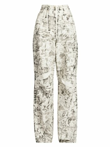 Oversized Tomboy Graphic Jeans