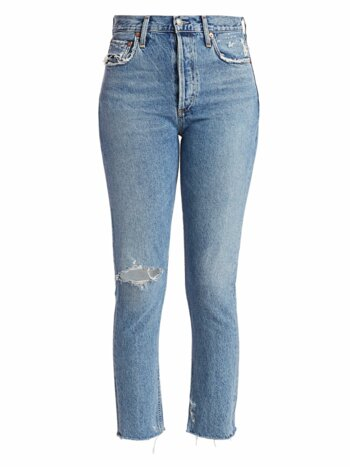 Jamie High-Rise Classic Straight Distressed Jeans