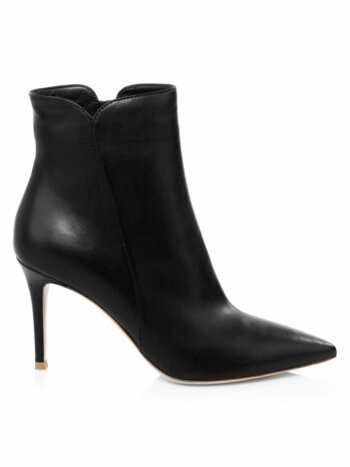 Pointy Leather Booties