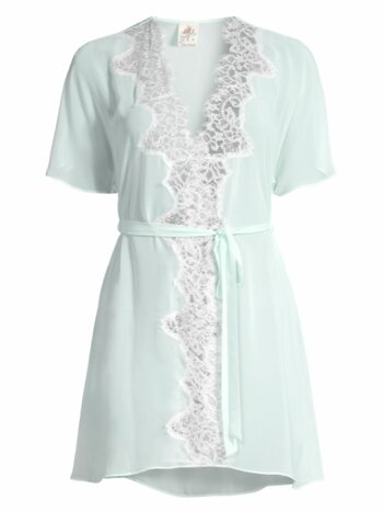 Stephanie Chiffon Lace Short Robe