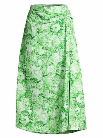 Printed Cotton Poplin Skirt