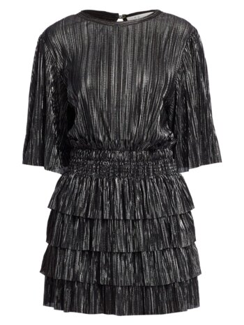 Cuszco Pleated Stripe Blouson Dress