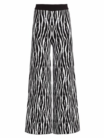 Mitchell Zebra-Print Wide-Leg Pants