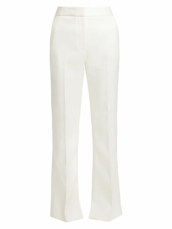 Straight-Leg Twill Pants