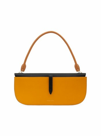 Colorblock Leather Baguette