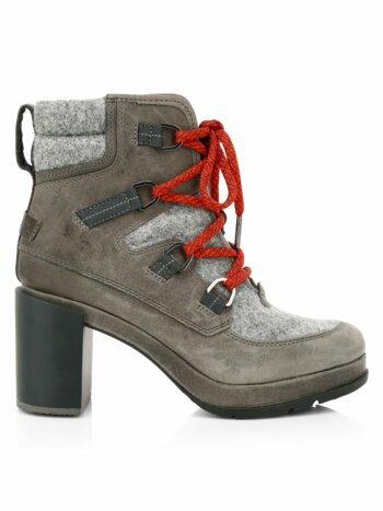 Blake Lace-Up Leather & Felt Hiking Boots