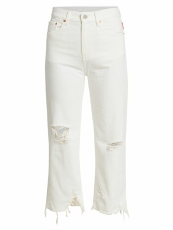 Pierce High-Rise Cropped Distressed Jeans