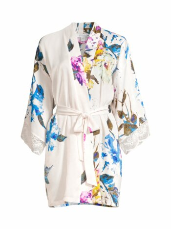Still In Love Floral Satin Robe