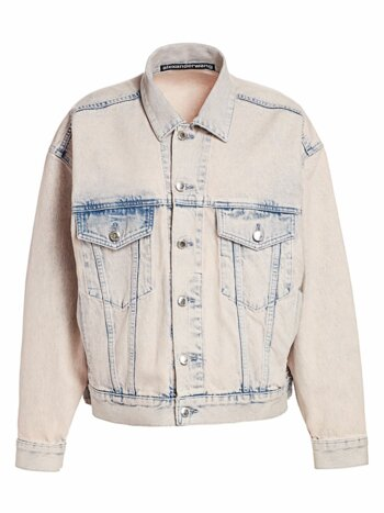Game Acid Wash Denim Trucker Jacket