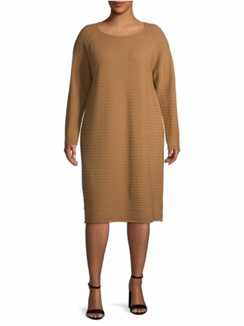 Plus Ribbed Wool Dress