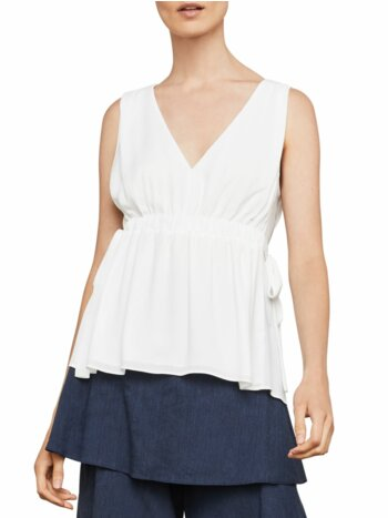 Sleeveless Waist-Tie Top