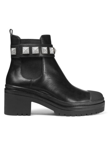 Glenn Studded Leather Chelsea Boots
